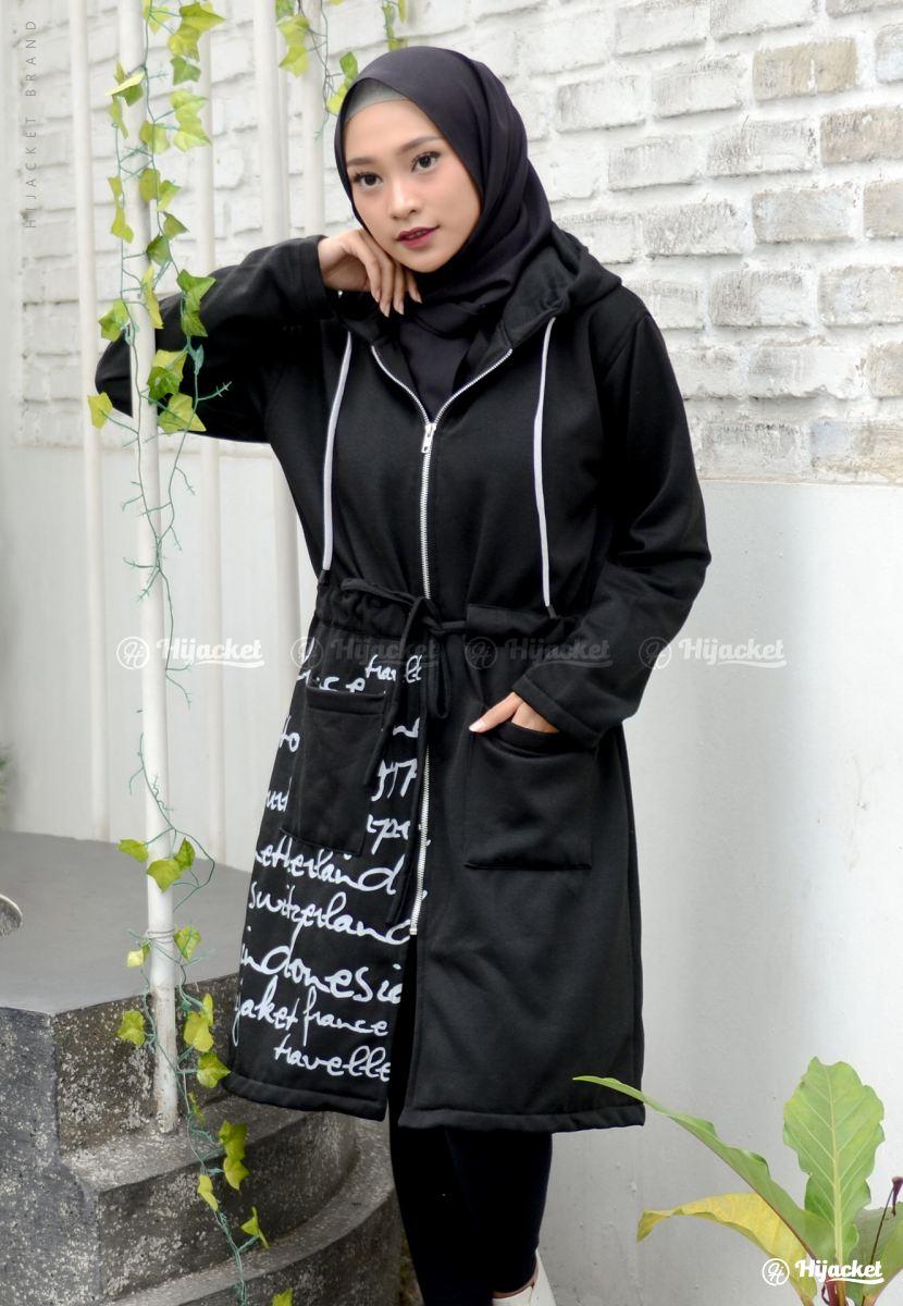 jaket muslimah hijacket urbanashion raven model jaket wanita terbaru ... 87c2ab3e38