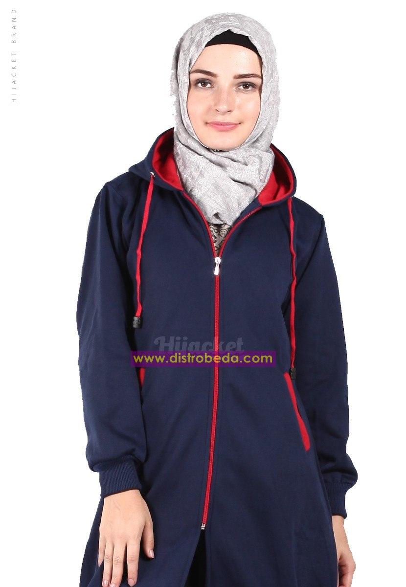 model jaket jaket muslimah hijacket basic navy red jaket wanita ... a32925bc67